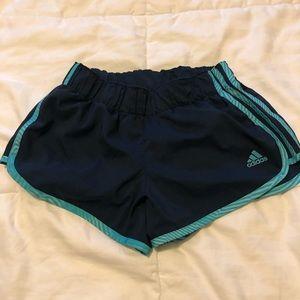 Adidas lined athletic shorts
